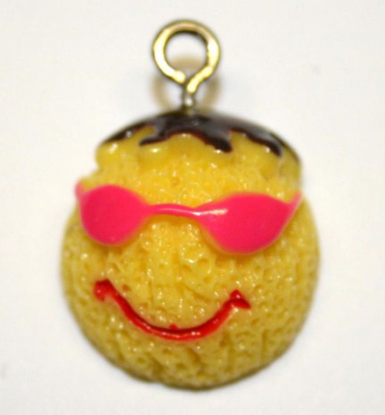 YELLOW SPONGE CAKE CHARM 17MM X 12MM CHFD1059